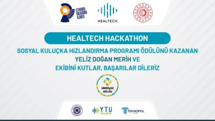 HEALTHECH HACKATHON'DAN EKİBİMİZE ÖDÜL